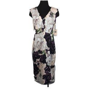 Ivanka trump floral print sheath dress